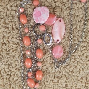 Women's Layered Necklace And Earrings Set